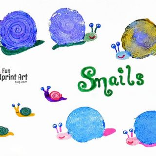 Stamped Onion Snails and Wall Art
