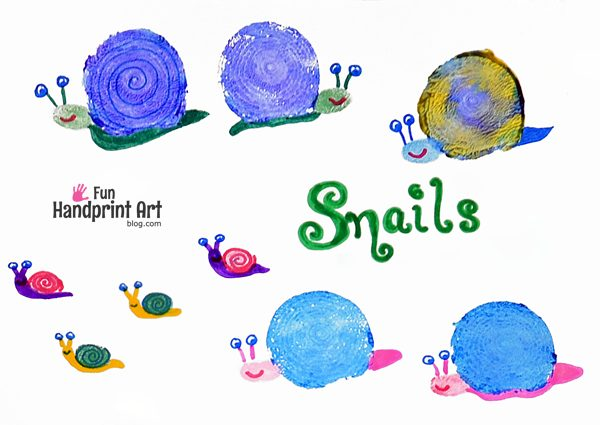 Onion Stamped Snails Craft for Kids
