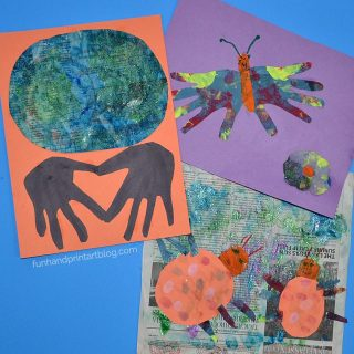 Painted Newspaper Art for Kids