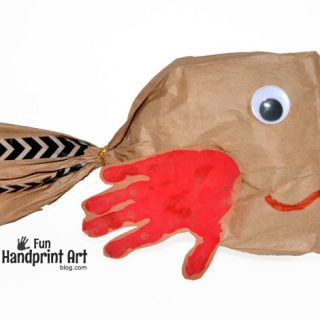 Paper Bag Craft: Handprint Fish