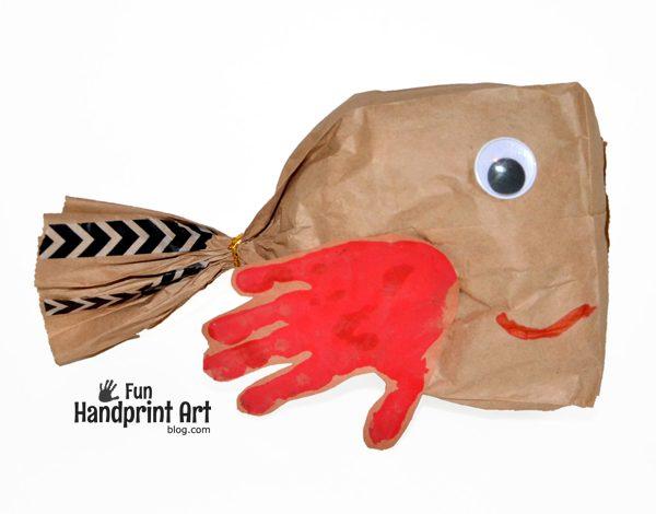 Paper Bag Fish Craft