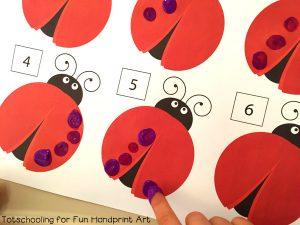 Preschool Math Printable - Fingerprint Ladybug Activity
