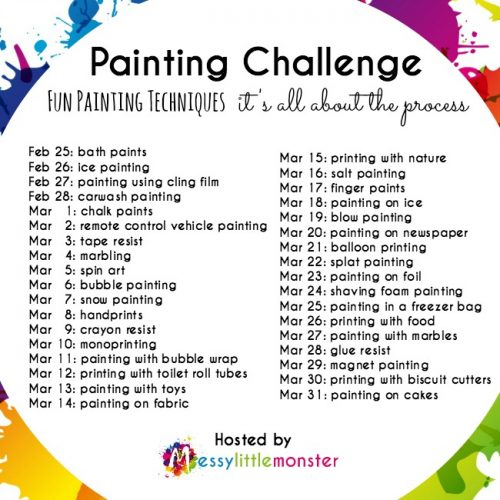 Process Art for Kids - painting challenge