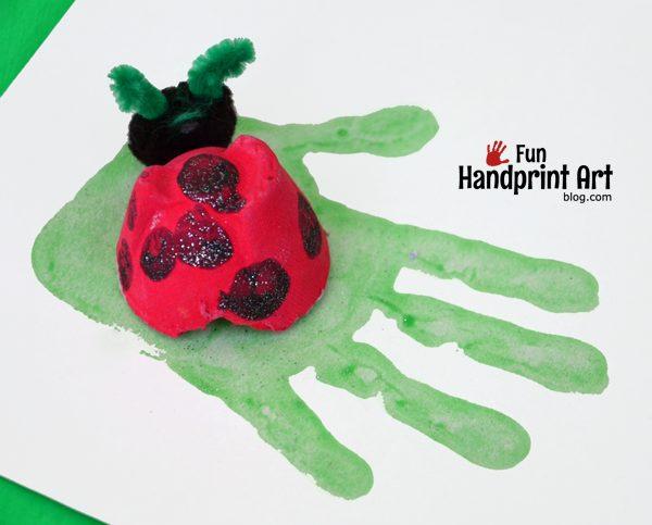 Fingerprint Ladybug | Recycled Craft