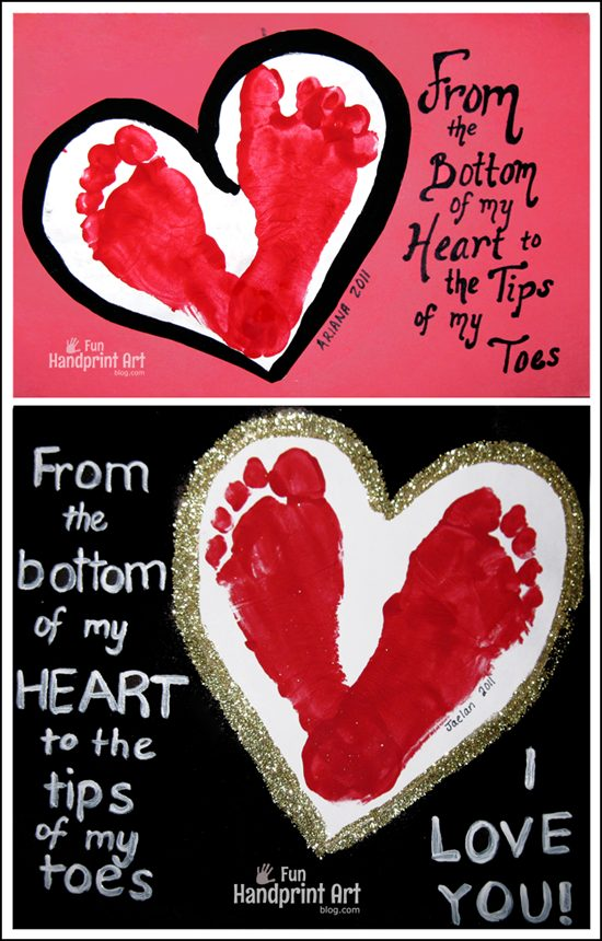 ootprint Heart I Love You Cards from Kids
