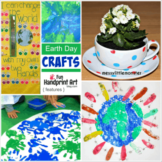 Kids Earth Day Crafts made with Handprints