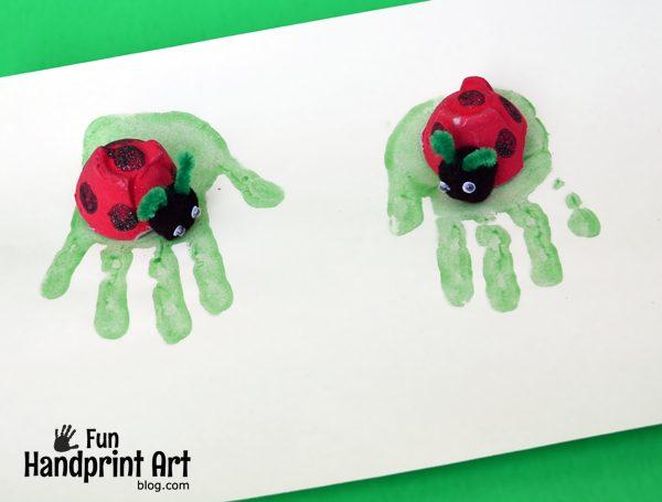 Recycled Egg Carton Ladybug Craft