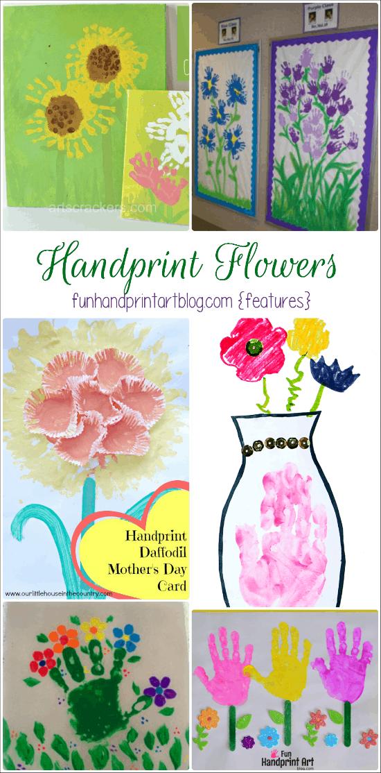 14 Flower Crafts made with little hands & feet