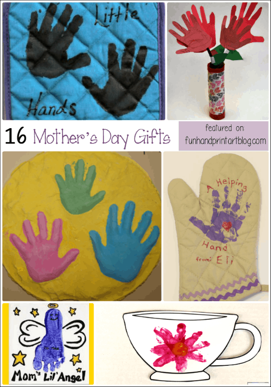 16 Mother's Day Gifts made with Handprints & Footprints