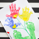 Handprint and Footprint Flowers_A Little Pinch of Perfect Title 2
