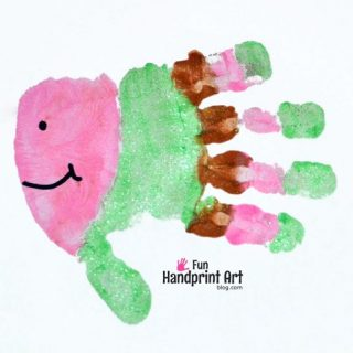 Fun Fish Handprint Keepsake - Kids Craft