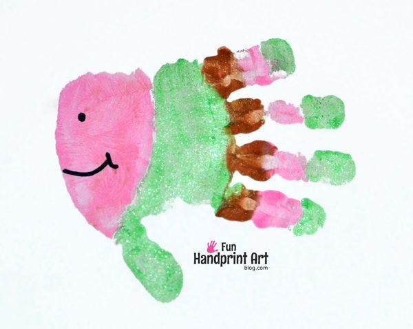 fun fish handprints kids crafts fun handprint art