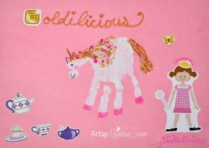 Goldilicious Unicorn Handprint Craft