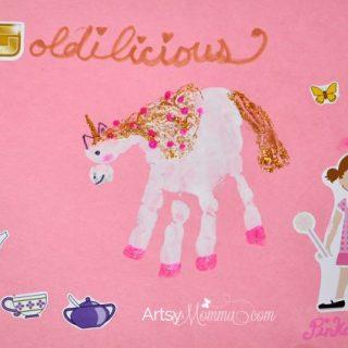 Goldilicious Book + Handprint Unicorn Craft