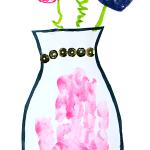 Handprint FLower Vase CRaft for the Letter V