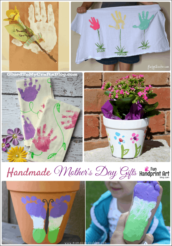 16 Handmade Mother S Day Gifts From Kids Fun Handprint Art