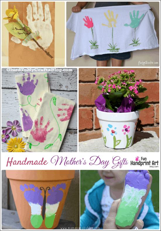 16 Handmade Mother's Day Gifts from Kids - Fun Handprint Art