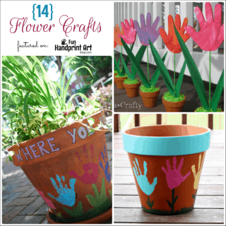 Handprint Flower Crafts
