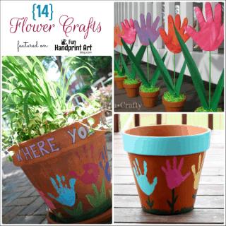 Handprint Flower Crafts