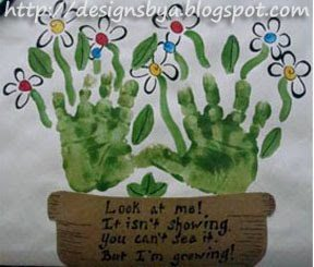 Handprint Flower Pot Garden Keepsake