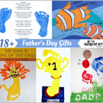 18+ Father's Day Gifts made by Kids using handprint and footprints
