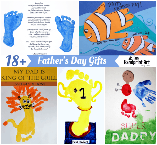 18 Precious Handprint Gifts For Dads Fun Handprint Art