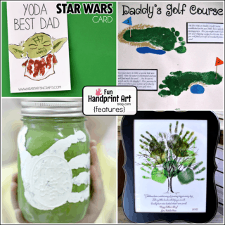 All our Father's Day Handprint and Footprint Crafts in 1 list!