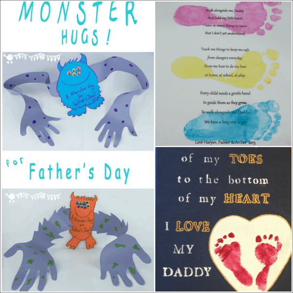 18 Fun Father's Day hand print craft ideas