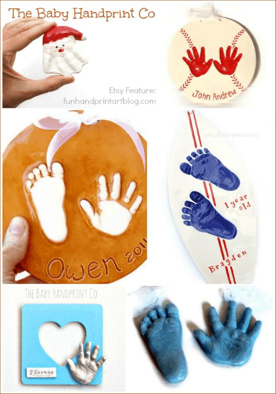 Clay Handprint Keepsakes - The Baby Handprint Co