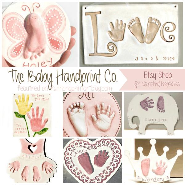 The Baby Handprint Co Etsy feature on funhandprintartblog.com
