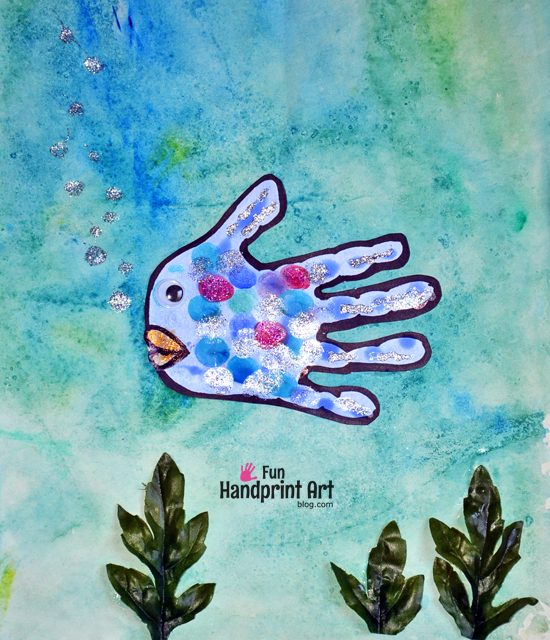 The Rainbow Fish Handprint Art