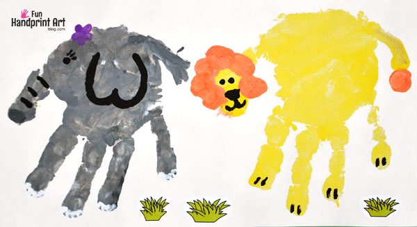 Zoo Animal Crafts - Elephant and Lion