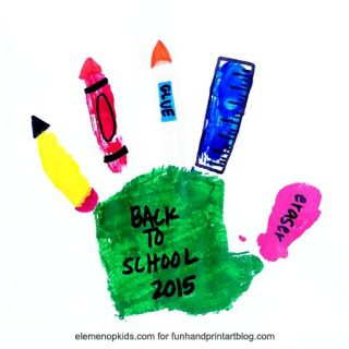 School Supplies Handprint