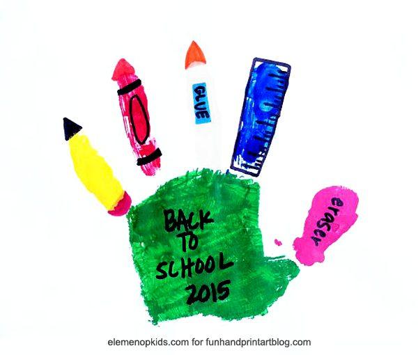 School Supplies Handprint Craft Fun Handprint Art