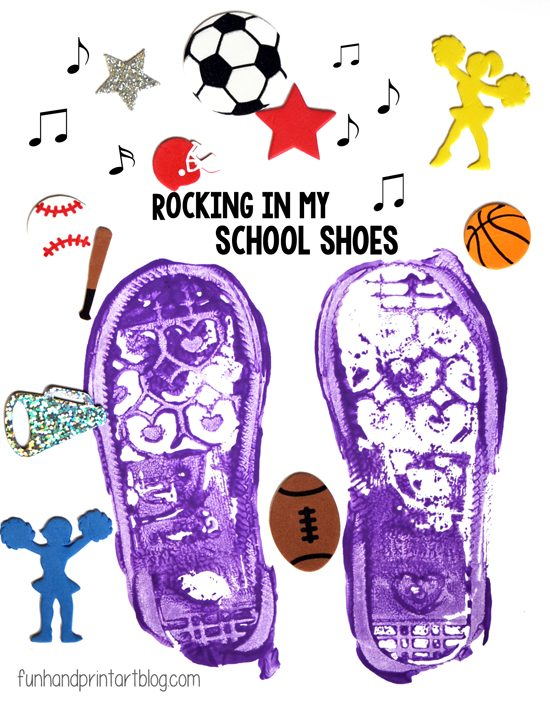 Shoe Print Craft -Pete the Cat: Rocking in My School Shoes