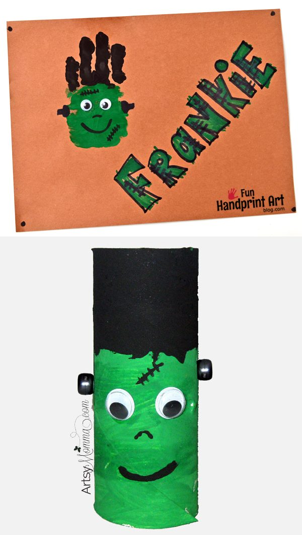Cute Frankenstein Crafts for kids