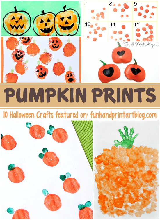 Pumpkin Prints - 10 Fun Halloween Handprint Crafts
