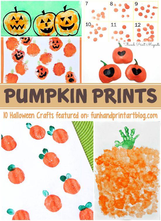 Pumpkin Prints - 10 Fun Halloween Handprint Crafts