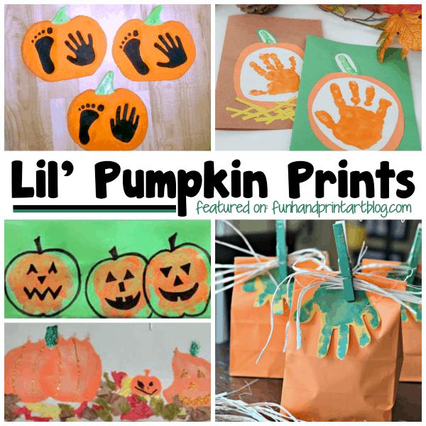 Lil' Pumpkin Print - Halloween Handprint Art