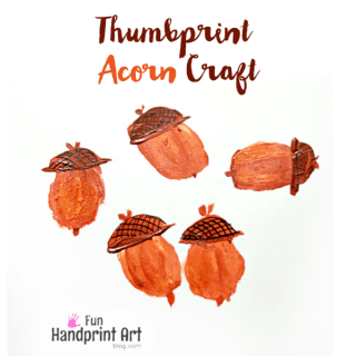 Fun Thumbprint Acorn Craft For Kids