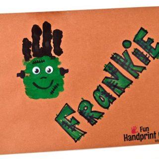 Super Cute Frankenstein Handprint Craft!