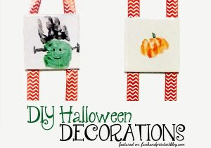 DIY Halloween Handprint Decorations - Tile Keepsakes