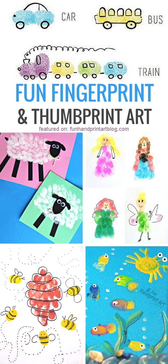 Adorable Fingerprint Crafts for Kids