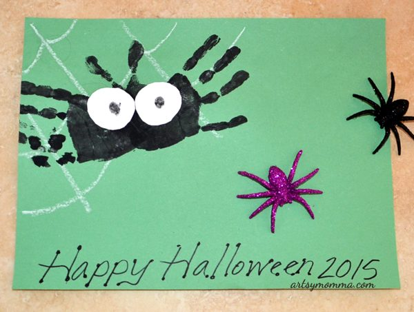 Not-so-scary Handprint Spider Art Project