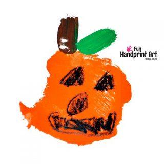 Palm Print Pumpkin – Kindergarten Craft