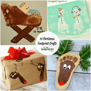 10 Creative Footprint Christmas Crafts