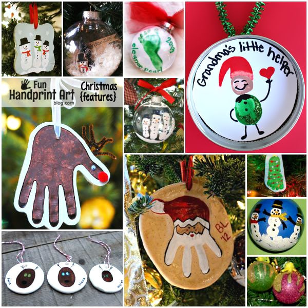 18 Memorable HANDmade Christmas Ornament Gift Ideas - Fun Handprint Art