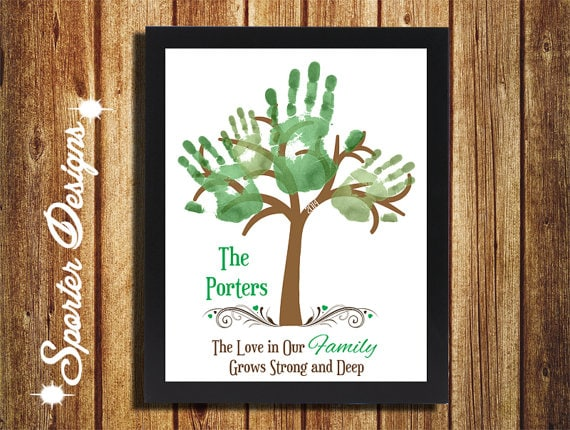 Handprint Family Tree Digital Wall Art