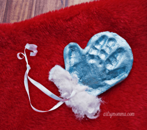Precious Salt Dough Mitten Ornament Keepsake & Gift Idea