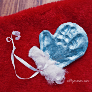 Simple Salt Dough Mitten Ornament Keepsake